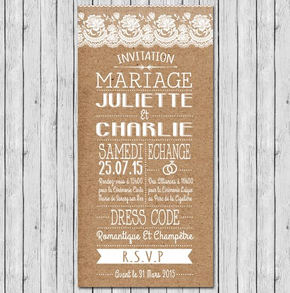 faire part mariage programme champetre chic dentelle rustique plan de table faire part menu. Black Bedroom Furniture Sets. Home Design Ideas