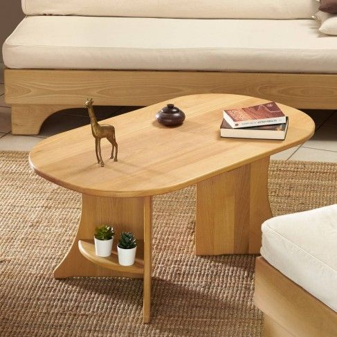 Table Ovale Hetre Massif Table Basse Ovale Table Basse Table De Salon