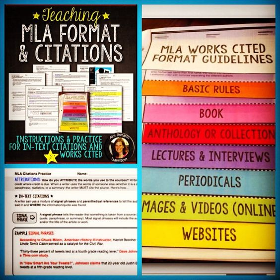 #MLAformat - This is probably one of my least favorite things to teach. But...it is a necessity to have students continue to practice until it's perfect. I tried to make it as simple and easy as possible for students with these exercises and works cited #interactivenotebook #flapbook. For any content area. #teachersfollowteachers #teacherspayteachers #TpT #MLA #writing #engchat #FotoRus