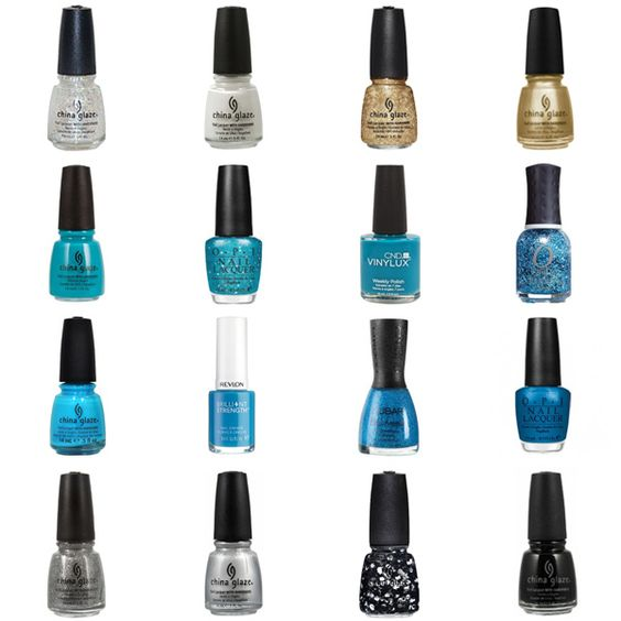 Blue Nail Polish Combinations: Colors, Polish And Panthers On Pinterest