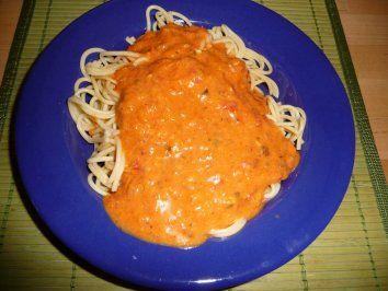 Spaghetti mit Tomaten-Eier-Soße