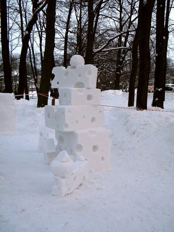 5 Wonderful Snow Sculptures Of Food