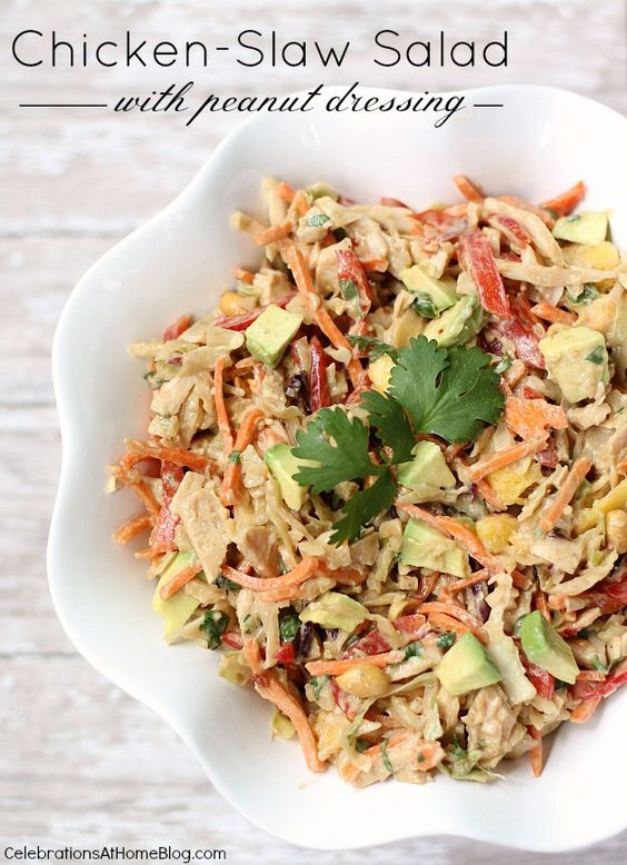 CHICKEN-SLAW SALAD WITH PEANUT DRESSING