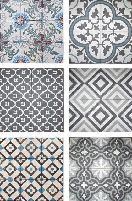 Tiles patterns. Padrões geometricos lindissimos para azulejo e ladrilho hidraulico. Ambientação retro.