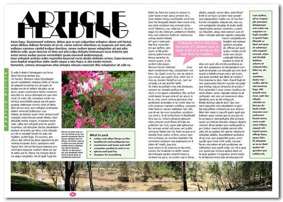 magazine layout - Google Search   graphic design   Pinterest   The ...