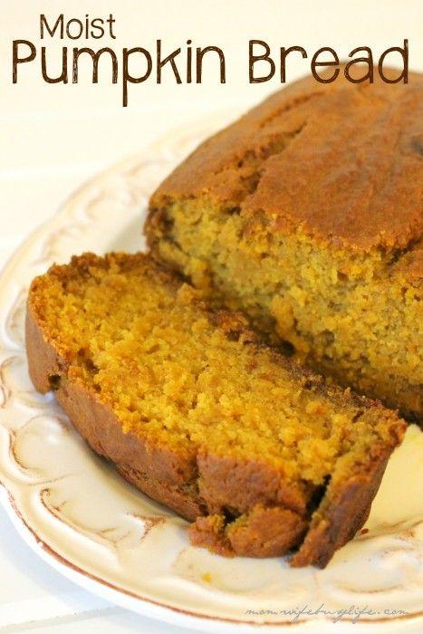 Moist pumpkin bread, Pumpkin bread recipes and Pumpkin bread on ...
