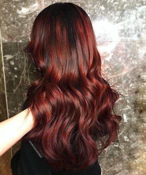 Dark Red Hair With Black Roots Dark Red Hair Black Roots Red Hair Red Hair Color Shades