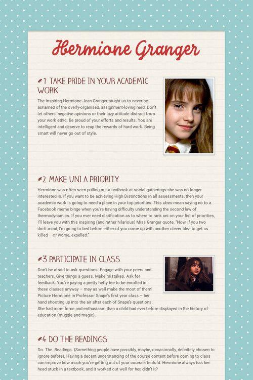 Hermione Granger Hermione Granger Study Best Study Tips