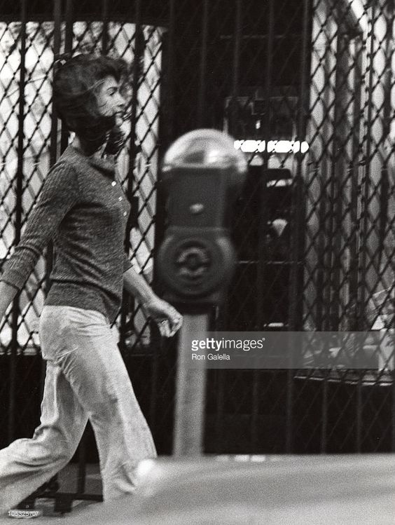 <a gi-track='captionPersonalityLinkClicked' href=/galleries/search?phrase=Jackie+Kennedy&family=editorial&specificpeople=70028 ng-click='$event.stopPropagation()'>Jackie Kennedy</a> Onassis during Jackie Onassis Sighting at Madison Avenue in New York City - October 7, 1971 at Madison Avenue in New York City, New York, United States.