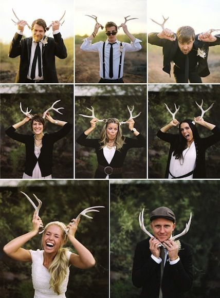 Funny Family Holiday photo ideas - add props