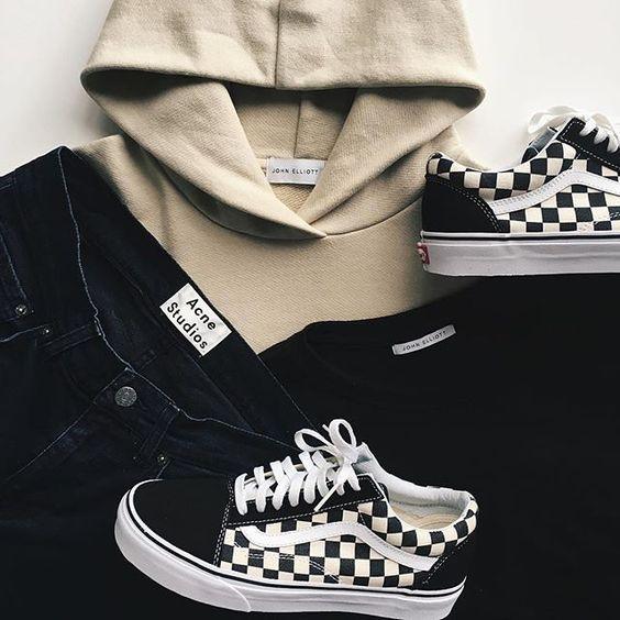 mens old skool checkerboard vans