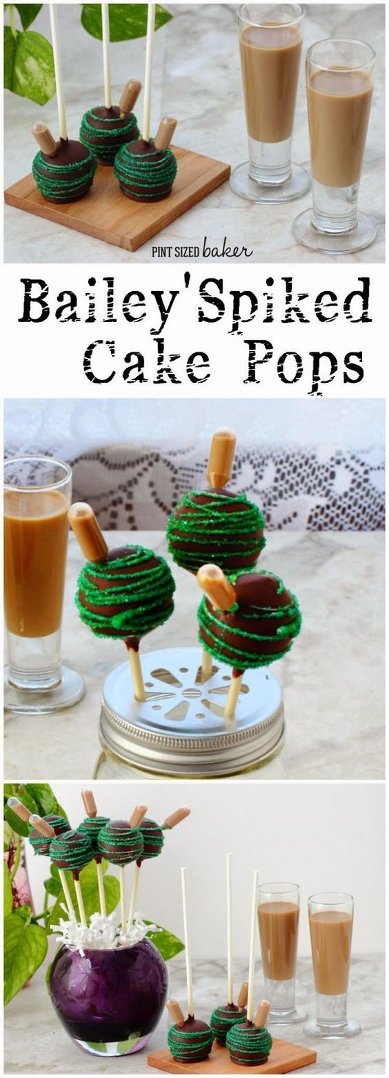 Bailey's Spiked Cake Pops | Guinness, Cake Pop and Chocolate Cakes