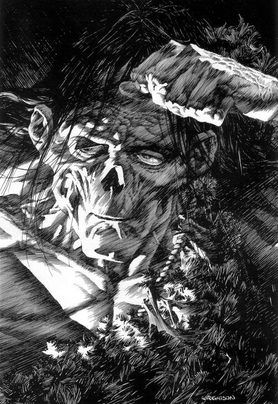 Bernie Wrightson, one of the andreas' influences. see also : http://pinterest.com/jefwesh/berni-wrightson/: