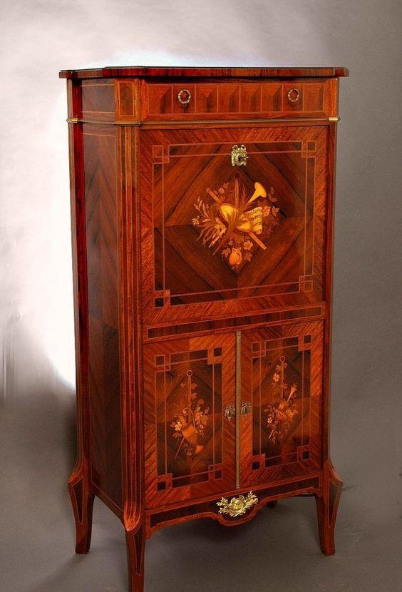 Stilmöbel,Antik,Louis XVI,Sekretär,Damen-Schreib-Möbel,Kunst,Design,Antiquitäten