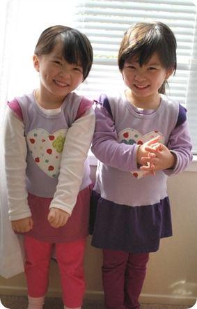 Re~fashion t-shirts into jumper dresses