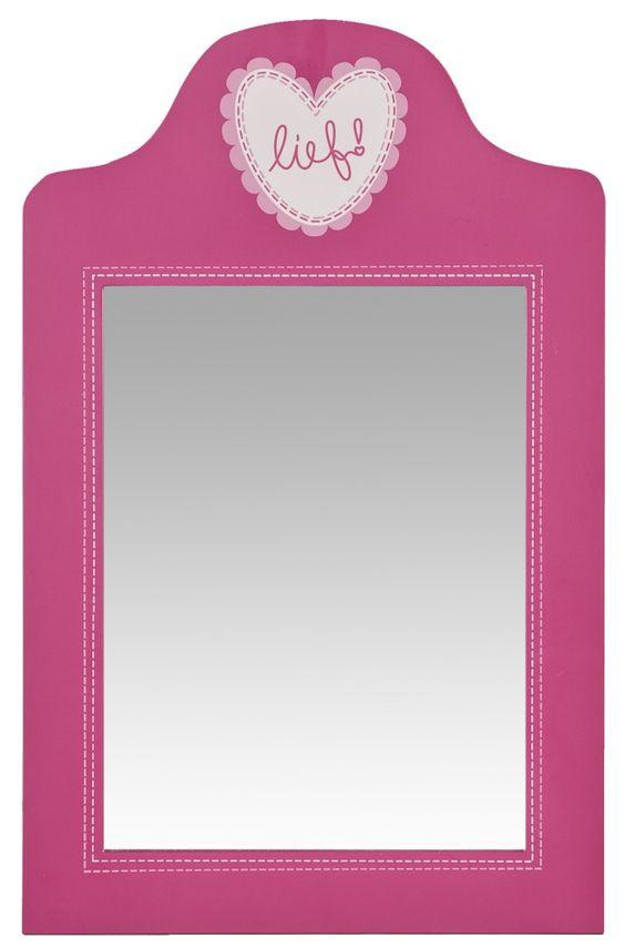 Spiegel eefje van lief kleurrijke decoratie voor de meisjeskamer kinderkamer nieuwe kamer - Kamerdecoratie voor meisjes ...