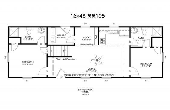 Pinterest the world s catalog of ideas for 16x50 house plans