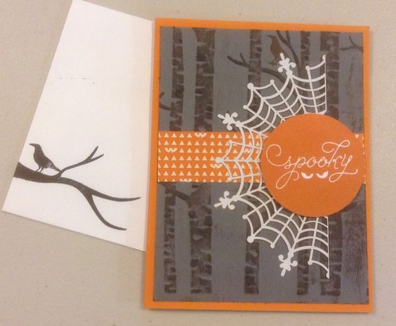 Here I've used the back side to add the effect of night using the spider web reflecting light in the moonlight. - Paper Queen Designs.
