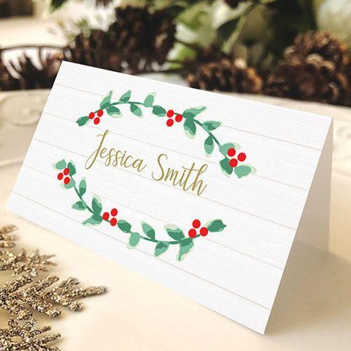 Free Christmas Place Card Christmas Gift Tags Printable Holiday Place Cards Christmas Place Cards