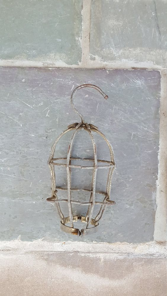 Vintage metal bulb/ light guard by Gigiscupboard on Etsy