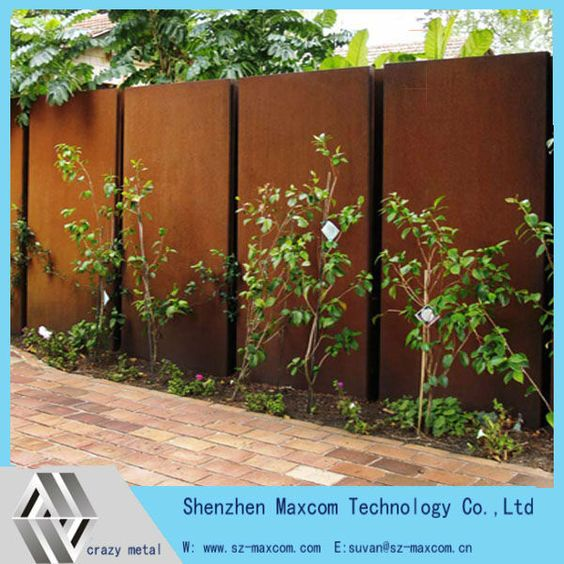 Decorative garden wall art feature corten steel screen for Screening walls for gardens