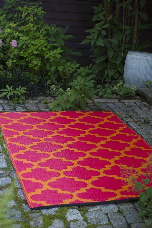 Moroccan Pink Orange Outdoor Rug Outdoor Rugs Indoor Outdoor
