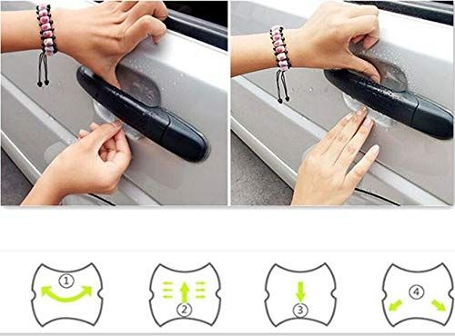 Hot Car Handle Protection Stickers Accessories For Mitsubishi