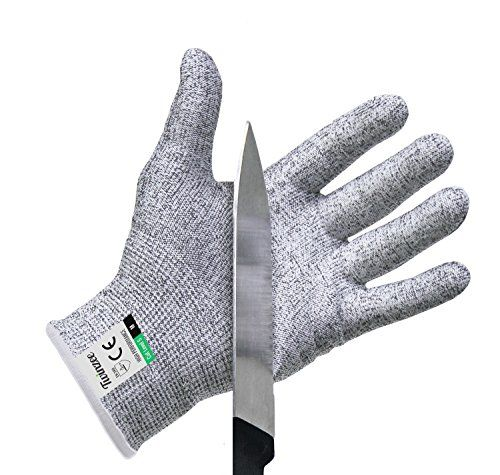 Fish Slices Kitchen Safety Gloves GlovesFood Grade 5 Protection Mandolin Slices Cut Meat Large, Gray Multi Terminal Oyster Shelling Wood Carving,Wood Carving Gloves 1 Pair