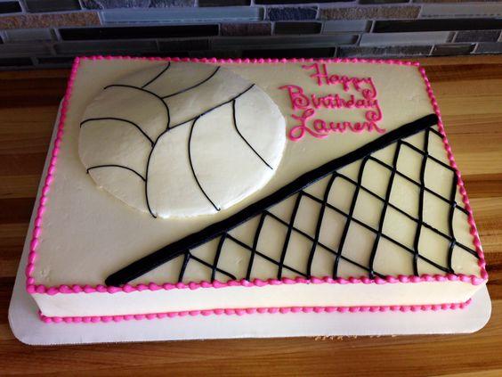 volleyball themed birthday cake