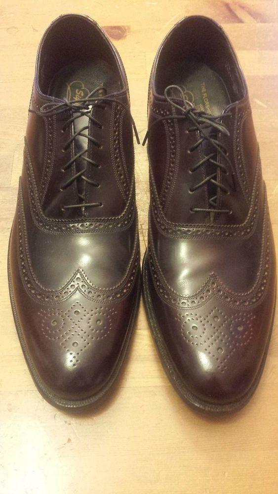 The Florsheim Shoe Signature Collection - Burgundy, Cordovan, Wing Tips (Sz 14A) #Florsheim #DressFormal