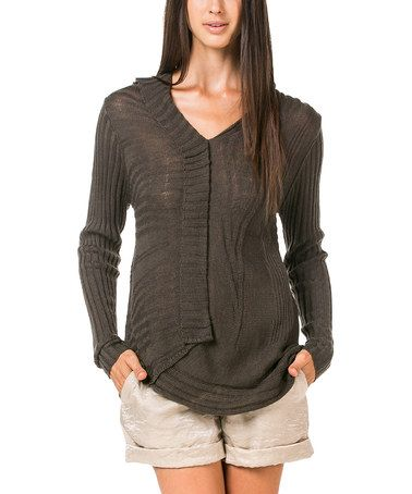 Loving this Charcoal Knit Wool-Blend Pullover on #zulily! #zulilyfinds