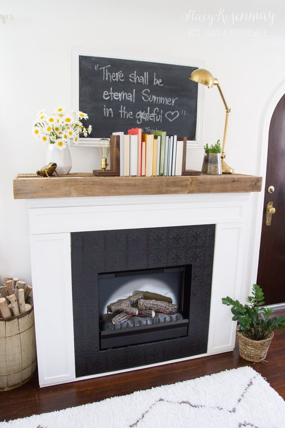Fireplace Makeovers Reclaimed Wood Mantel And Mantels On Pinterest