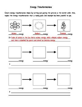 Worksheets Energy Transformations Worksheet With Answers student the ojays and teaching on pinterest energy transformation