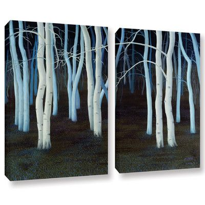 World Menagerie Mystic 2 Piece Painting Print on Wrapped Canvas Set Size: