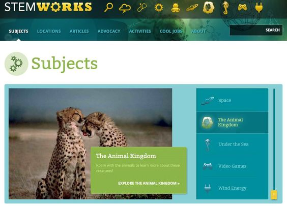 STEM-Works is a free resource for K-12 teachers, mentors, parents, STEM professionals, volunteers, and everyone passionate about getting children eager to learn about science, technology, engineering, and math. Content is organized into high-interest subjects. Within each subject, users can access related articles, educational events, activities, interviews and advocacy opportunities.