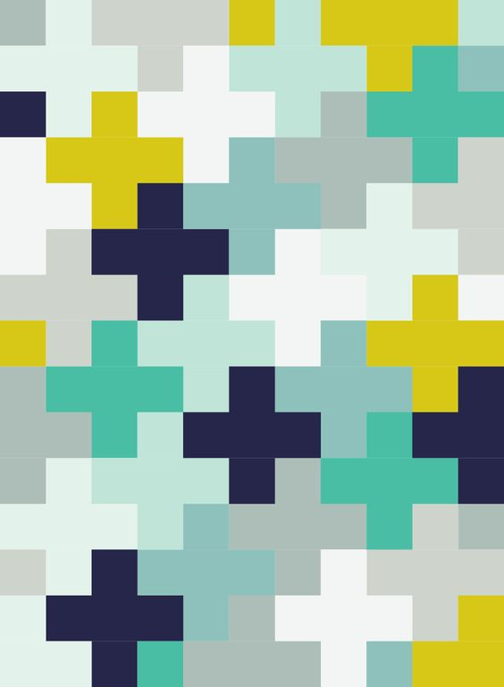 Free downloadable Plus Quilt pattern tutorial by For the Love of George - Layout option 1