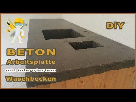 Betonplatte Mit Integriertem Waschbecken Arbeitsplatte Aus Beton Epoxidharz Betontisch Neu Youtube Arbeitsplatte Betonplatte Waschbecken