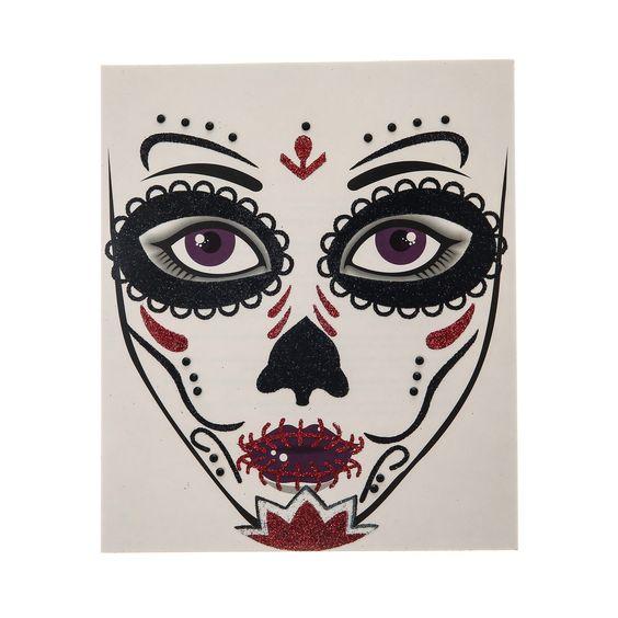 Tatouages Sur Le Visage Tendances Mode And Halloween On Pinterest