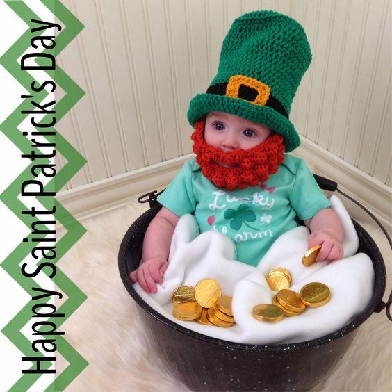 Crochet Baby Leprechaun Hat Pattern : Saint patricks day, Saint patricks and Free crochet on ...
