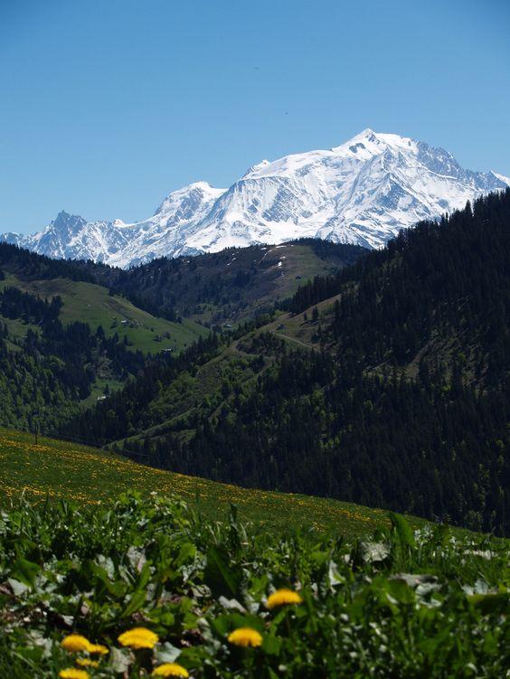 Mont Blanc enneigé Haute.-Savoie France: