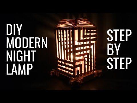 Ice Cream Stick Night Lamp Popsicle Lamp Diy Craft Ideas
