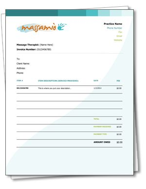 a free #massagetherapy receipt and invoice template. as easy as, Invoice templates