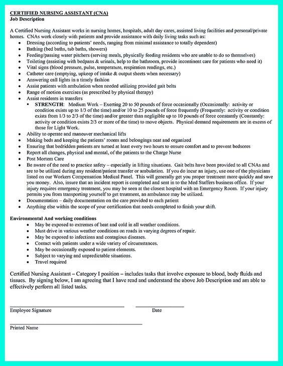 cool u201cMention Great and Convincing Skillsu201d, Said CNA Resume Sample - cna job description resume