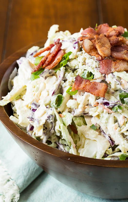Blue Cheese Bacon Coleslaw | Recipe | Blue cheese, Bacon and Coleslaw