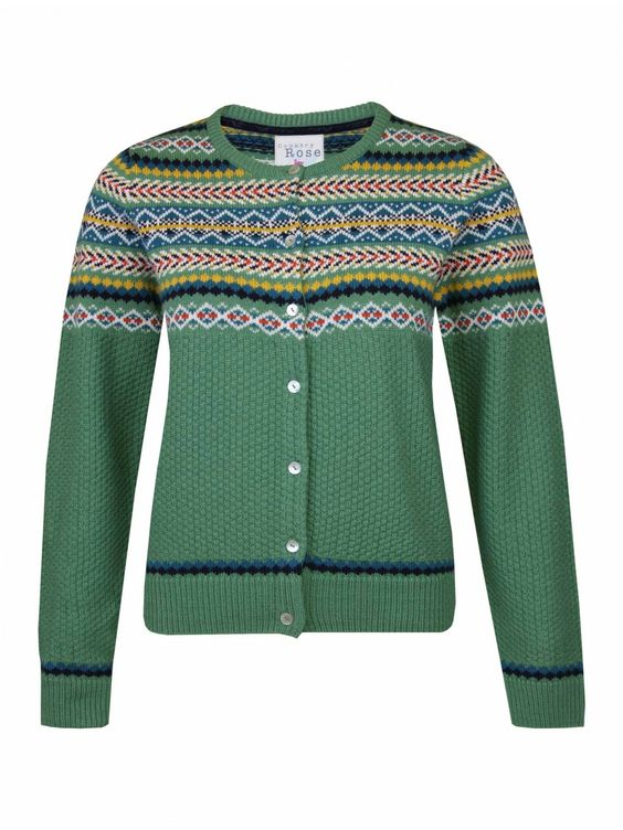 Country Rose - Fairisle Cardigan | The Edinburgh Woollen Mill ...
