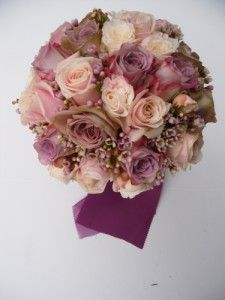 Antique Pink Roses with pink/purple