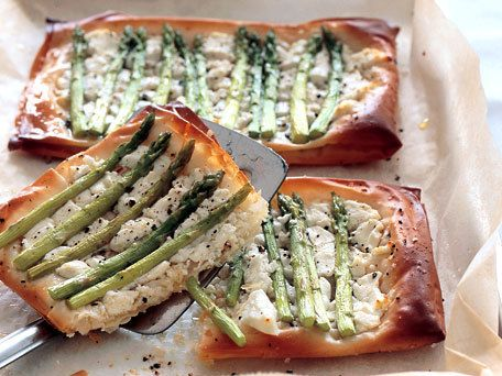 asparagus and goat cheese tarts