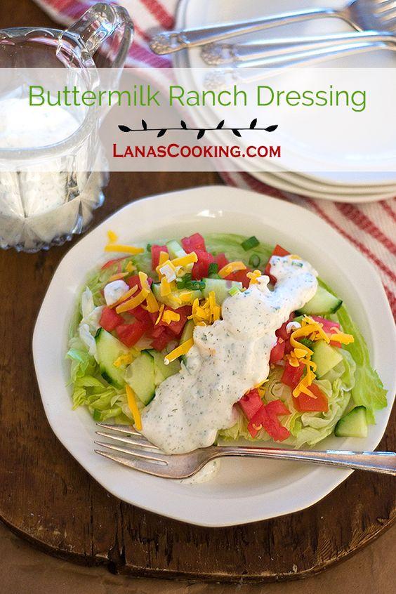 Buttermilk Ranch Dressing | Recipe | Buttermilk Ranch Dressing ...