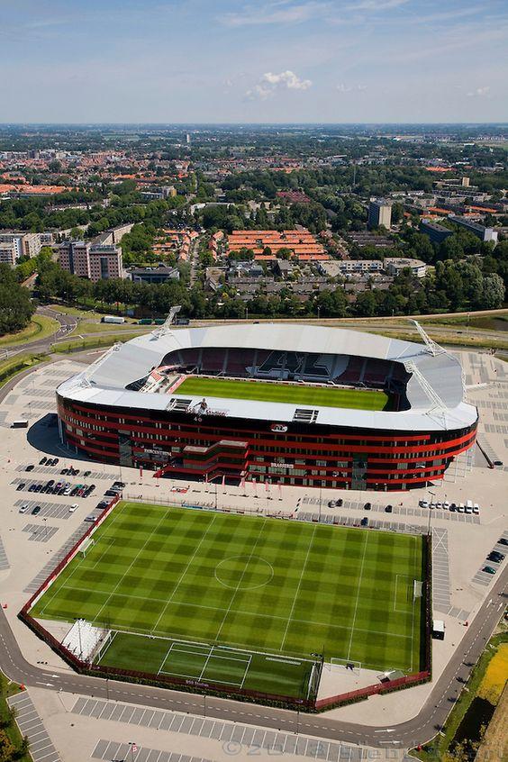 AZ Stadion, Alkmaar, Noord-Holland.