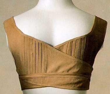 Opaska-biustonosz; początek XIX wieku [The Kyoto Costume Institute, Japonia]
